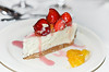 indulgence 18/31 (sure2talk) Tags: indulgence dessert cheesecake strawberries nikond7000 nikkor50mmf18afs october2017amonthin31pictures 117picturesin201790indulgence bokeh cutlery