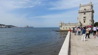 Tagus River and Belém Tower (Lisbon, Portugal)
