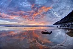 Post Yohkai (pauldunn52) Tags: sunset temple bay glamorgan heritage coast witch splint rock pool cliffs wet sand reflections pink