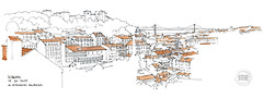 Lisbonne, du belvédère de Graça (gerard michel) Tags: portugal lisbon belvédère miradouro sketch croquis