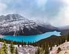 Peyto Lake panorama (Northern wanderer) Tags: canada canon5dmkiv northernwanderer patricklow landscape lake peytolake banffnationalpark glacier panorama