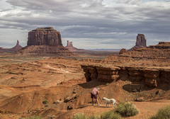 Utah - Monument Valley - A Photographer And His Dog (JimP (in Sarnia)) Tags: utah monument valley navajo tribal park photographer dog landscape