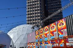 HUBweek (6) (AntyDiluvian) Tags: boston massachusetts cityhallplaza cityhall hubweek exhibition art science technology container shippingcontainer dome geodesicdome