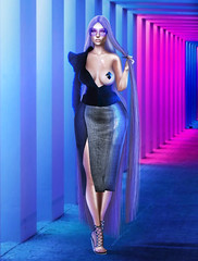 Trendsetter . (Venus Germanotta) Tags: secondlife fashion nickiminaj color lilkim trends trendsetter model pose fierce paris hautecouture highfashion avantgarde pastie diamond metal gorgeous chic longweave longhair purple aesthetic highlife famous celebrity lighting perspective tunnel shadow photoshop graphicdesign design photography fashionweek runway rowne ison snakeskin leather azoury event thechapterfour custom exclusive iconic fashionista look style stylish slay slayage skin shine bright fabulous rapper hiphop weave queen vibrant colour blogger blog blogging blogpost queendom