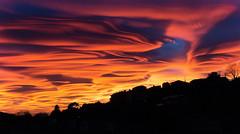 One of the best sunset ever.. (Alex Switzerland) Tags: landscape macromonday sky cloud altocumulus lenticularis weather evening light red canon eos 6d paesaggio lugano switzerland ticino luganese