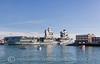 HMS QUEEN ELIZABETH - HARBOUR ENTRANCE (mark_rutley) Tags: hmsqueenelizabeth royalnavy aircraftcarrier warship navy naval portsmouth hampshire navalbase queenelizabeth gosport