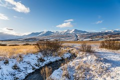 Mt. Sulur and Kerling (Einar Schioth) Tags: súlur sulur kerling mtkerling mtsulur winter snow sky sunshine sun water river day canon clouds cloud sigma sigma2470 vividstriking blusky nationalgeographic ngc nature mountains mountain landscape photo outdoor picture iceland ísland ice eyjafjordur einarschioth