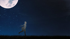 436 This is how the stars shine (Katrina Yu) Tags: pointillism silhouette moon surreal surrealphotography fineartphotography conceptual creative concept 2017 365project manipulation selfportrait art