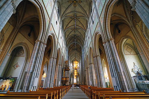 Uppsala Cathedral interior, Sweden