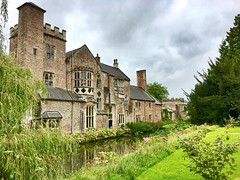 The Bishops Palace (heathernewman) Tags: reflection trees city wells mendip uk england somerset water lake pond architecture palace bishopspalace