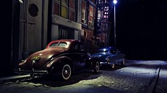 Bohemian Night (gpholtz) Tags: diorama miniatures 118 diecast 1940 ford 1950 oldsmobile