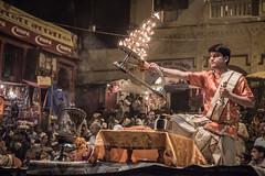 Varanasi - Ghats - Ganga Aarti prayer-3