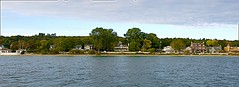 Somewhere In Time (Herculeus.) Tags: 2017 architecture buildings clouds day events historichomes islandsmackinacisland landscape mi oct outdoor outdoors outside panorama residences sfhomes strait straitofmackinac sunsetcruise water usa
