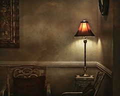 Safe Harbor (Christina's World-) Tags: home house chairs lamp room artistic architecture gold red mirror texture stilllife