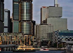 ferry wharf (sabinakurt62) Tags: city architecture skyscraper building ferry people wharf darlingharbour barangaroo sydney australia beautiful nikon photography
