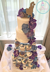 Orchids Cupcake Tower