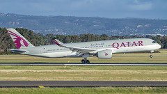 Qatar Airways A350XWB A7-ALH (Anthony Kernich Photo) Tags: a7alh airbus a350xwb airbusa350 widebody a350 airplane aircraft airplanepicture airplanephotograph airplanephoto commercialaviation plane aviation jet olympusem10 olympus olympusomd planespotting planespot aeroplane flight flying airline airliner raw air oneworld adelaide adelaideairport ypad taxi terminal airfield touchdown qatar qatarairways