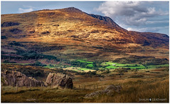 √ Handheld: Highground (Shaun S. Leatham) Tags: sony wales snowdonia a77v view mountains 1650 landscape green rocks fence blue hill autumn