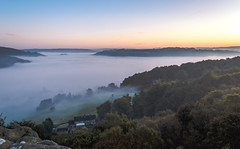Morning Fog (quiltershaun) Tags: fog mist misty foggy derbyshire intheclouds sunrise landscape morning today blackrocks castle trees wood town country nature sky friday nikon