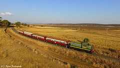 Catching the afternoon sun (Dylan B`) Tags: queenslandrail queensland qld qr qgr dh class 45 sdsr southern downs steam railway scenic rim darling granite belt heritage historical tour train locomotive loco engine carriages wooden country bridges hills crops roads sun sky clear drone photography dji phantom 3 4 mavic pro