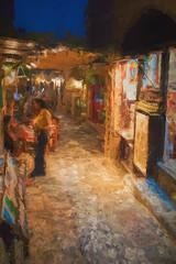 SL160617 Monemvasia 06 (Sh4un65_Artistry) Tags: artwork digitalart digitalpainting events greece greece2017 landscape painteffect paintedphoto painterly people places streets textured topaz topazimpression topaztextureeffects monemvasia