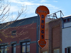 Buffalo, WY Seney's Drugs blade sign (army.arch) Tags: buffalo wyoming wy downtown historic historicdistrict historicpreservation neon blade sign nrhp nationalregister nationalregisterofhistoricplaces rexall drugs