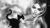 🐺🐱🐺 Le chat noir... 🐺🐱🐺 Lucy's Portrait (AyE ღ I'м α vιѕιoɴΛЯT) Tags: digitalart digitalpainting digitalfantasy painting artworks portraits beauty illustrations artportrait ritratto retrato portrature dreamy vision magical emotionalart emotional blackandwhite bw cw digitalportrait