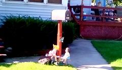Decorative mailbox! (Maenette1) Tags: decorative mailbox butterfly children deck house sidewalk neighborhood menominee uppermichigan flicker365 michiganfavorites