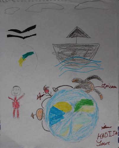"""dessin """"l'oiseau et l'enfant"""" (11)"""