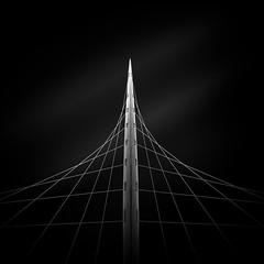 Trinity Bridge 1 (paulantony2) Tags: d7100 manchester urban city architecture bridge blackandwhite calatrava