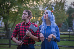 Me and My Babe (JeffMoreau) Tags: paul bunyan babe big blue ox halloween costume parkesburg chester county pennsylvania lumberjack wig