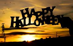 Happy Halloween Everyone !!! (ChicqueeCat) Tags: sunset landscape nikon d3300 halloween silhouette aberdeenshire scotland
