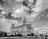 Manzanares El Real Castle (Ignacio Ferre) Tags: castillo castle madrid manzanareselreal spain españa sierradeguadarrama monocromo monocromático monochrome bw blackwhite blancoynegro paisaje landscape cielo sky nube cloud nublado