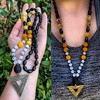 Triangle Pendant Hand Knotted Necklace 🌟 Now avail at StarzShoppe on etsy 🌟 Shop link in description 🌠 (STARZGRRL) Tags: necklace newageart newage egyptian jewelry bohojewelry gypsystyle hippiejewelry prayerbeads jade agate naturalstone