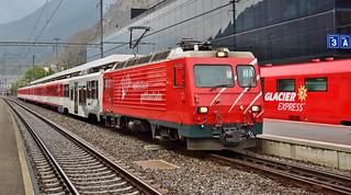 MGB HGe4/4 loco no.1_Visp, Switzerland_300917_01