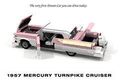 1957 Mercury Turnpike Cruiser Hardtop Coupe (lego911) Tags: mercury ford motor company 1957 1950s classic v8 turnpike cruiser hardtop coupe fins chrome continental auto car moc model miniland lego lego911 ldd render cad povray lugnuts challenge 120 happy10thanniversarylugnuts happy 10th anniversary 83 onlyinamerica only america usa breezeaway