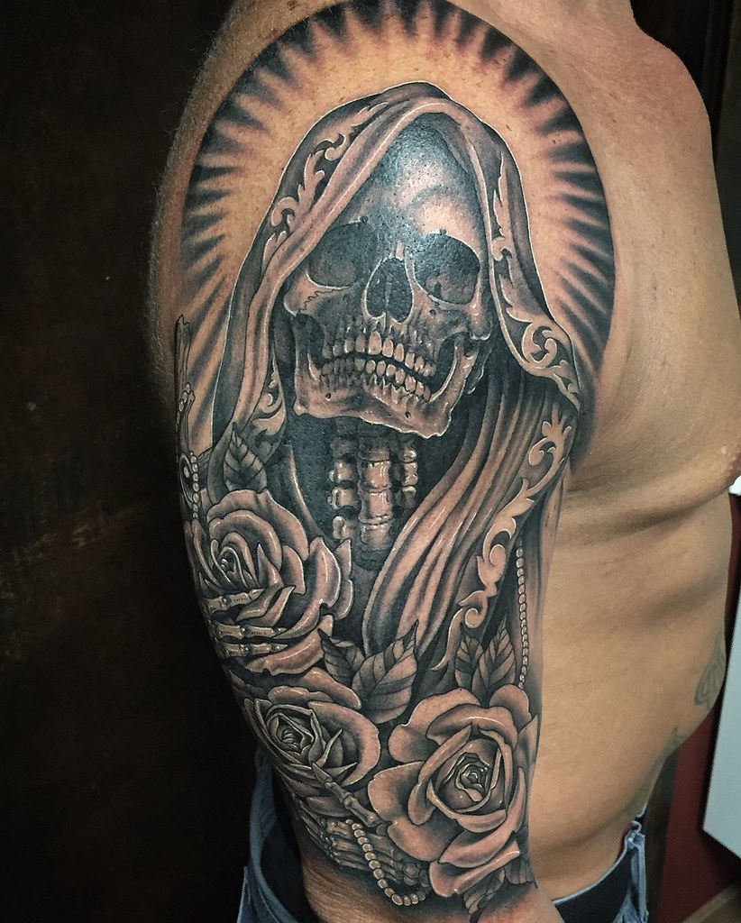 The world 39 s best photos of muerte and tattoo flickr hive - Santa muerte signification ...