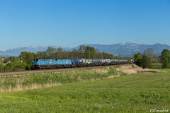 Doppeltraktion EGP 225 in Rann (TheKnaeggebrot) Tags: egp eisenbahn gesellschaft potsdam 225 rann groskarolinenfeld güterzug zug train kesselwagen kesselzug kbs950