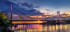 Sava-River-Belgrade-New-Railway-and-Ada-Bridges-2 (Predrag Mladenovic) Tags: belgrade sava river ada bridge newrailway gazela sunset twilight reflections citylights