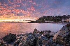 Caution: Slippery Rocks. (cassidyduberry) Tags: sunrise morning outdoor longexposure gnd wicklow bray ireland sony a7ii wideangle 18mm