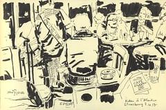 Cafe Atlantico - Strasbourg (lolo wagner) Tags: croquis sketch usk urbansketchers strasbourg bar