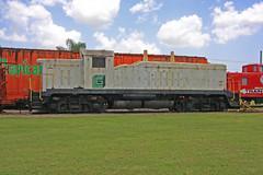 EMD NW-5  Switcher, Florida Railroad Museum, Parrish (2 or 2) (gg1electrice60) Tags: switcher builtjanuary1947 exxxcargillgrgxnumber61 exxgardinierphosphateno61 exmississippiexportrailroadmse61 neefortstuniondepotnumber2 unionbeltofdetroit electromotivedivision emd generalmotors gm nw5 roadswitcher switchinglocomotive diesel dieselengine diesellocomotive floridagulfcoast61 fgc61 greenlglogo lg grayprimer greyprimer usroute301 us301 parrish florida fl manateecounty america railroad railroadstation railroaddepot railroadmuseum railroadyard railroadtracks museum rrtrack rrdepot rrmuseum rr touristrailroad railroadexcursions trainrides rustycrusty rustyandcrusty alltypesoftransport train sky grass caboose tropicanareefer tropicanaboxcar