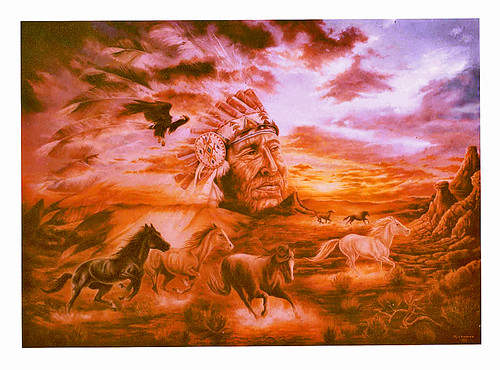 Flight of the Desert Dream-Oil on Canvas