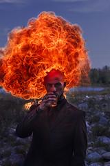 Fireborn (Milena Galizzi) Tags: fire breath wind flames explosion fireborn dracrarys man male portrait fine art fineart