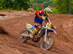 Yamaha In The Turn (John Kocijanski) Tags: motorcycle motocross vehicle rider race sport people canon70300mmllens canon7d