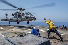 "Sikorsky MH-60S ""Seahawk"" (aeroman3) Tags: sailors deployment nimitzcarrierstrikegroup strikegroup ussprinceton princeton cg59 ticonderogaclass guidedmissilecruiser helicopter mh60sseahawk eightballers hsc8 chockandchains flightquarters arabiangulf"