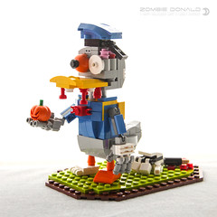 Zombie Donald (dvdliu) Tags: lego moc donald duck mickey mouse zombie halloween horror pumpkin