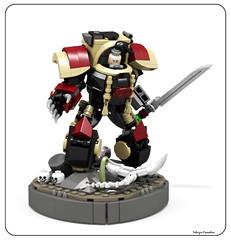 Ezekyle Abaddon (Faber Mandragore) Tags: wip lego moc sci fi mecha warhammer 40k space marine primarchs chaos terminator son horus pre heresy ezekyle abaddon