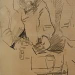 CEZANNE,1872-73 - Cézanne gravant auprès du Docteur Gachet, La Morsure (drawing, dessin, disegno-Louvre RF29925) - Detail 15 thumbnail