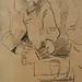 CEZANNE,1872-73 - Cézanne gravant auprès du Docteur Gachet, La Morsure (drawing, dessin, disegno-Louvre RF29925) - Detail 15